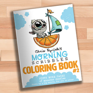 Morning Scribbles Coloring Book #2