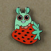 Strawberry Bunny Pin