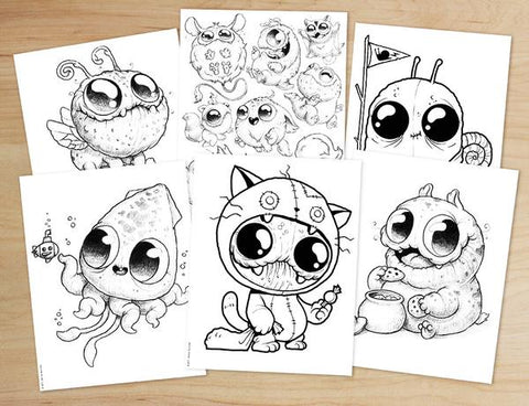 Morning Scribbles Coloring Book - PDF Download