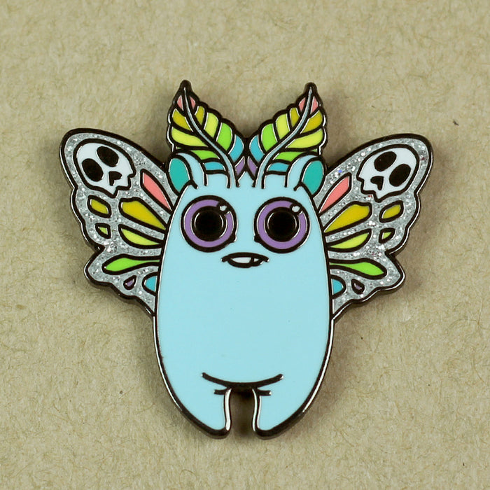 Rainbow Mothbunny Pin