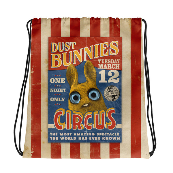 Dust Bunnies Circus Drawstring Bag