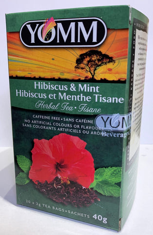 YOMM Hibiscus & MINT Teabags