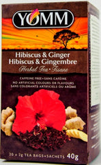 YOMM Hibiscus & Ginger Teabags