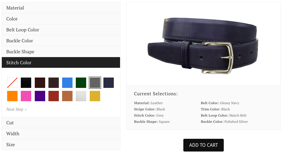 Design Your Own Custom Men's Belt