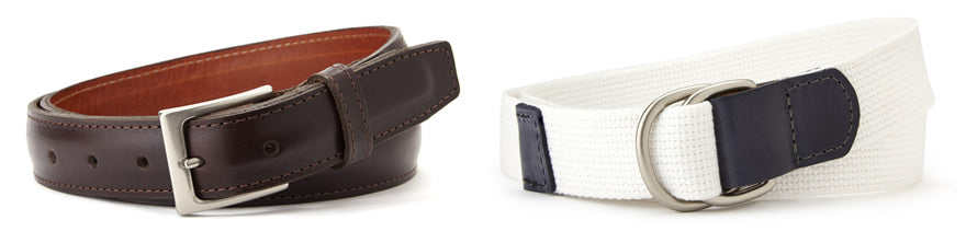 Two Types of Men's Belts
