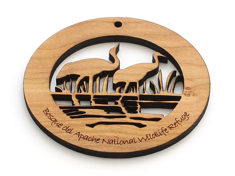 Bosque del Apache National Wildlife Reserve Custom Ornament