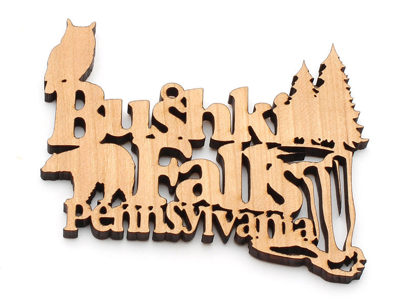 Bushkill Falls Custom Text Ornament