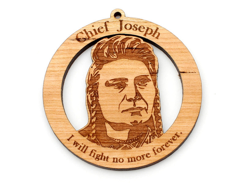 Chief Joseph Wood Ornament