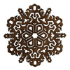 "3 1/2"" Detailed Snowflake Ornament Gift Box"