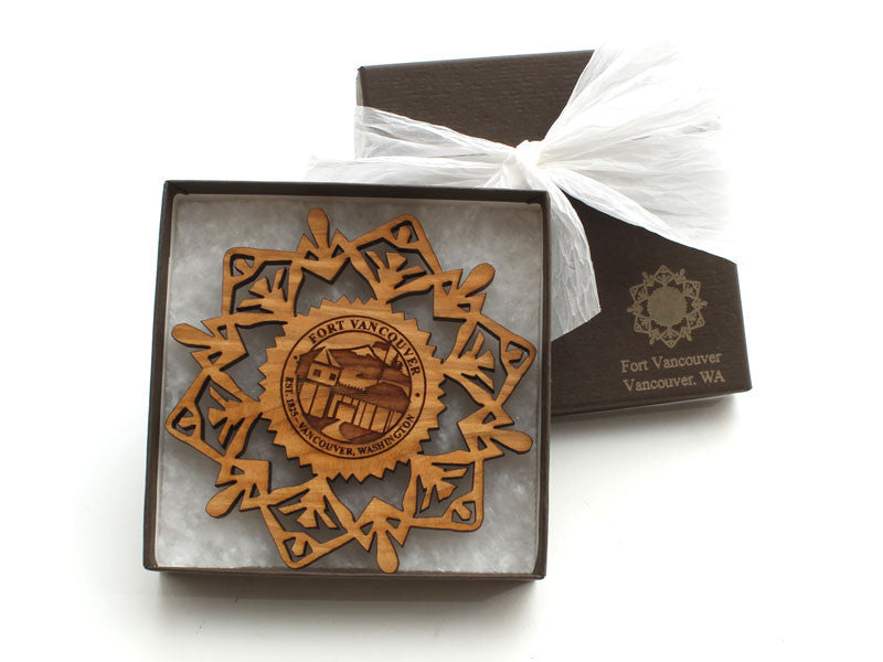 Fort Vancouver Custom Snowflake Ornament