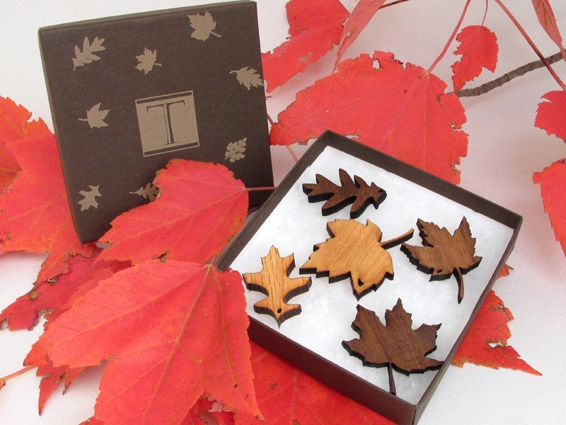 Mini Leaf Ornament Gift Box (set of 5)