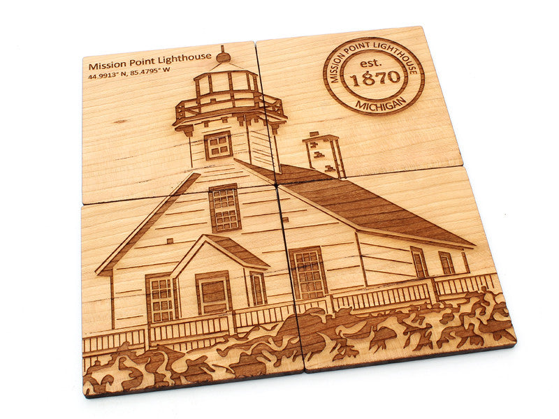 Mission Point Lighthouse - Coasters