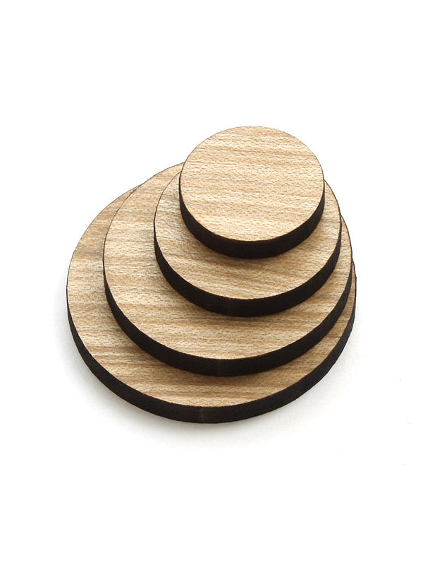 Wood Circle Cutouts - Red Maple