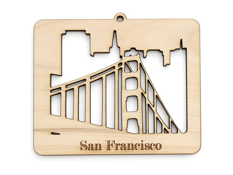 San Francisco Golden Gate Bridge Skyline Ornament