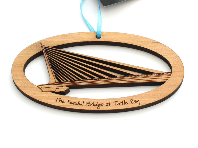 Sundial Bridge at Turtle Bay Custom Ornament