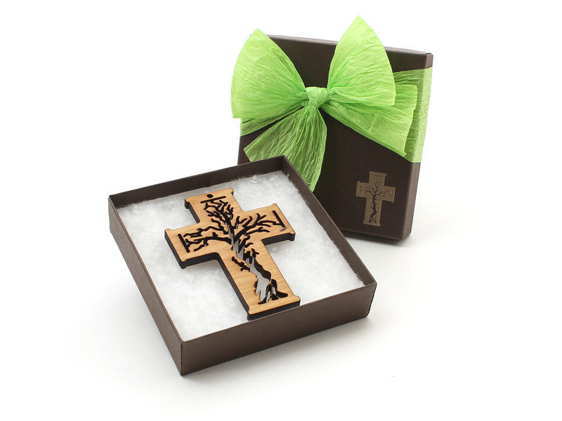 Tree of Life Cross Ornament Gift Box