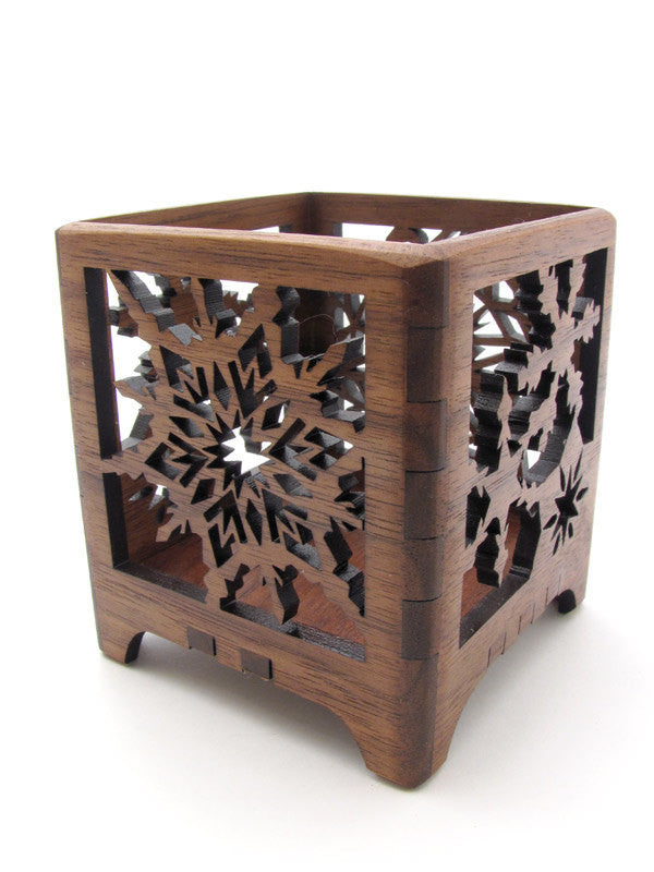 Walnut Snowflake Votive