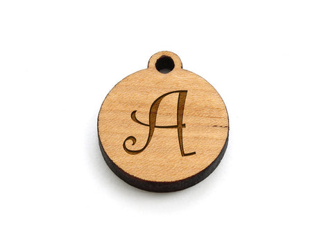 Monogram Circle Charm - Letter A