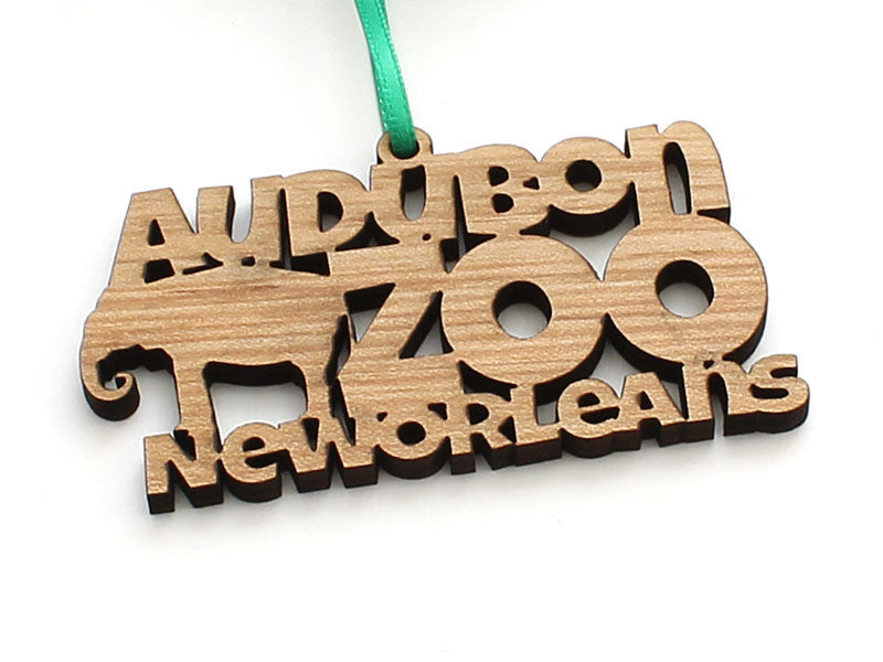 Audubon Zoo New Orleans Word Ornament - Elephant