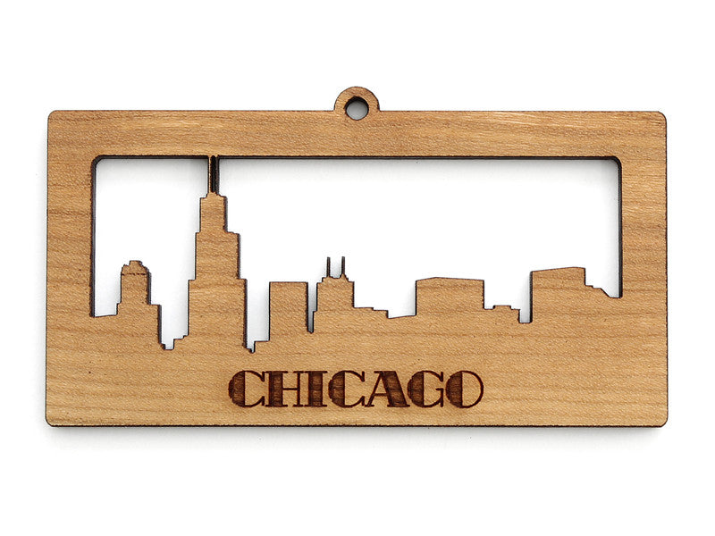 Chicago Skyline Cityscape Ornament