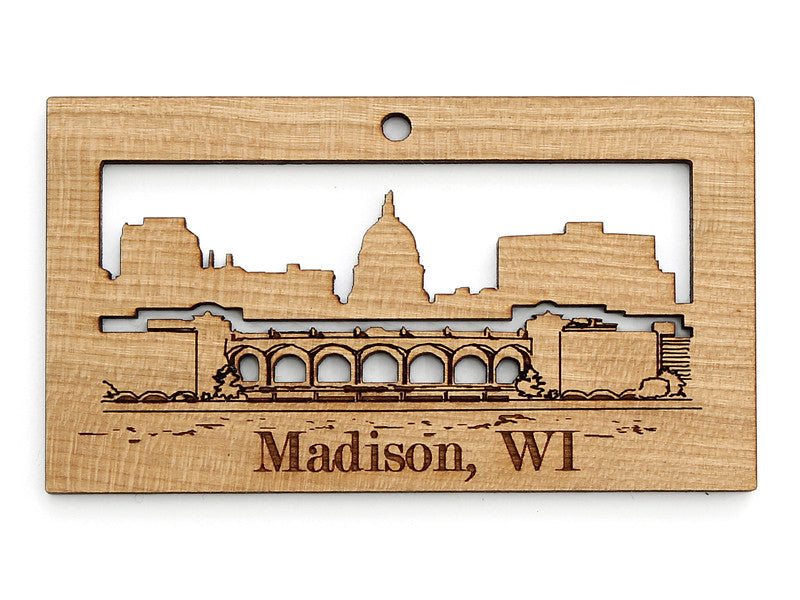 Madison Wisconsin Skyline Terrace Capitol View Ornament