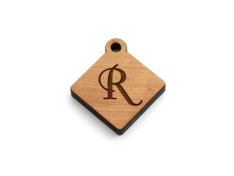 Monogram Diamond Charm - Letter R