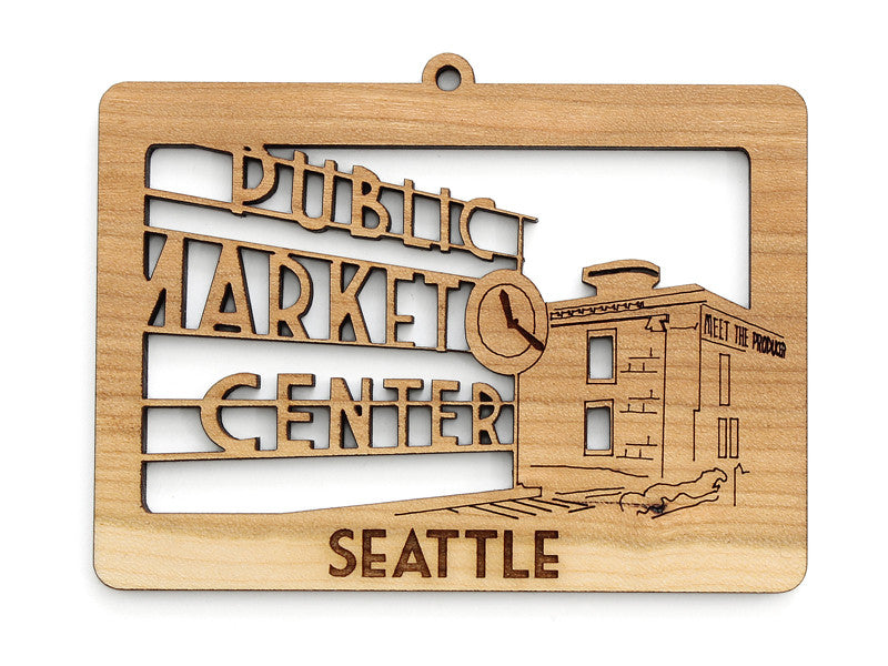Seattle Public Market Center Cityscape Ornament