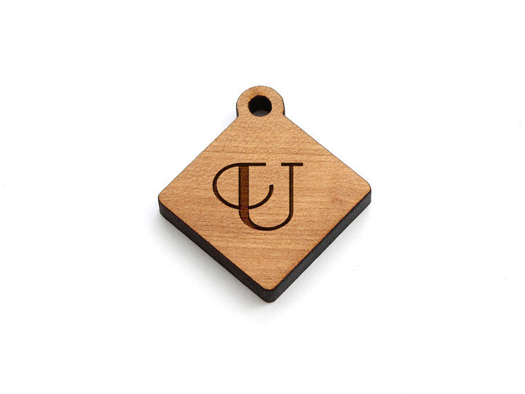 Monogram Diamond Charm - Letter U