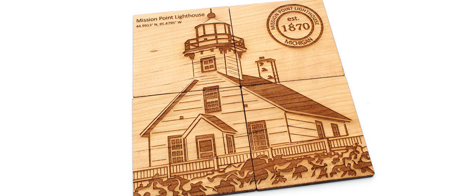 Mission Point Lighthouse Coasters