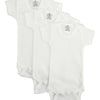 White Short Sleeve One Piece 3 Pack