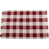 Barn Red-Buttermilk Buffalo Check Placemat - Set of Six