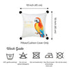 "Tropical Parrot Island Square 18"" Throw Pillow Cover"