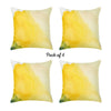"Watercolor Sunrise Dream Square 18"" Throw Pillow Cover  (Set of 4)"