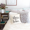 Bless This Home Cotton Canvas Pillow Cover
