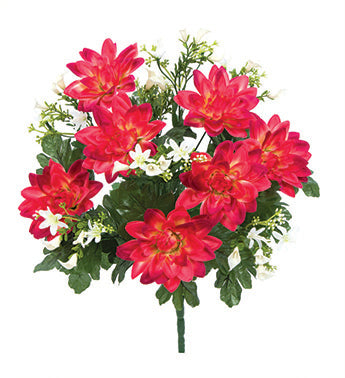 Red Dahlia/Mini Calla Lily Bush 87437 20.5