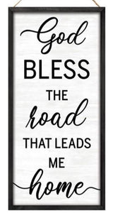 "12.5""H X 6""L God Bless The Road Sign AP7048"
