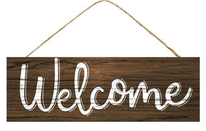 "15""L X 5""H Brown Welcome Sign   AP800799"