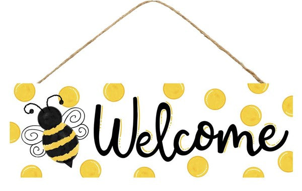 BUMBLE BEE/DOTS WELCOME SIGN 15