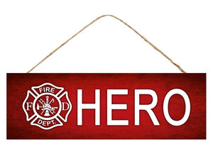 "15""L X 5""H Firefighter Hero Sign  AP806624"