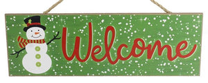 "15""Lx5""H Welcome Snowman Sign AP812709"