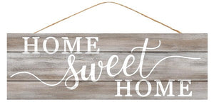 "15""L X 5""H Home Sweet Home Ap818944 Grey Washed/White"