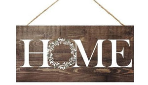 "Home Sweet Home Brn 12.5""x6"" AP8312"