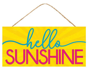 "12.5""L X 6""H Hello Sunshine Sign AP8568"