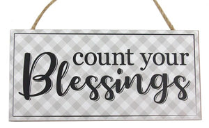 "12.5""L X 6""H Count Your Blessings Sign AP8569"