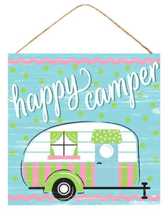 "10""Sq Happy Camper Sign AP8599"