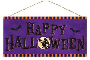 "12.5""L X 6""H Happy Halloween Sign AP8839"