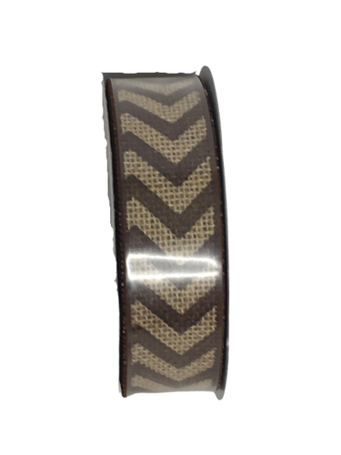 Chevron Burlap Wired Ribbon Asst. Colors 1.5