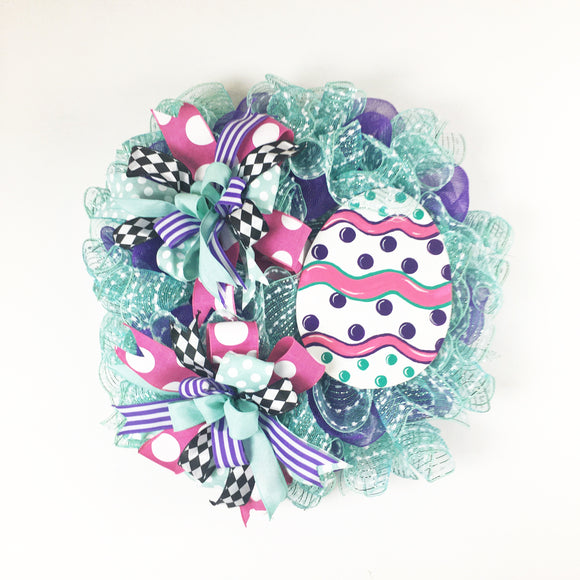 Easter Egg Mesh Wreath 24