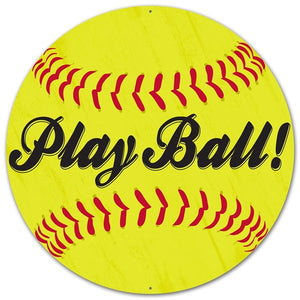 "12""Dia Metal Play Ball! Softball Sign MD053539"