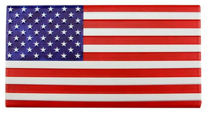 "12""L X 6.25""H Metal/Embd American Flag RED/WHITE/BLUE MD0603"